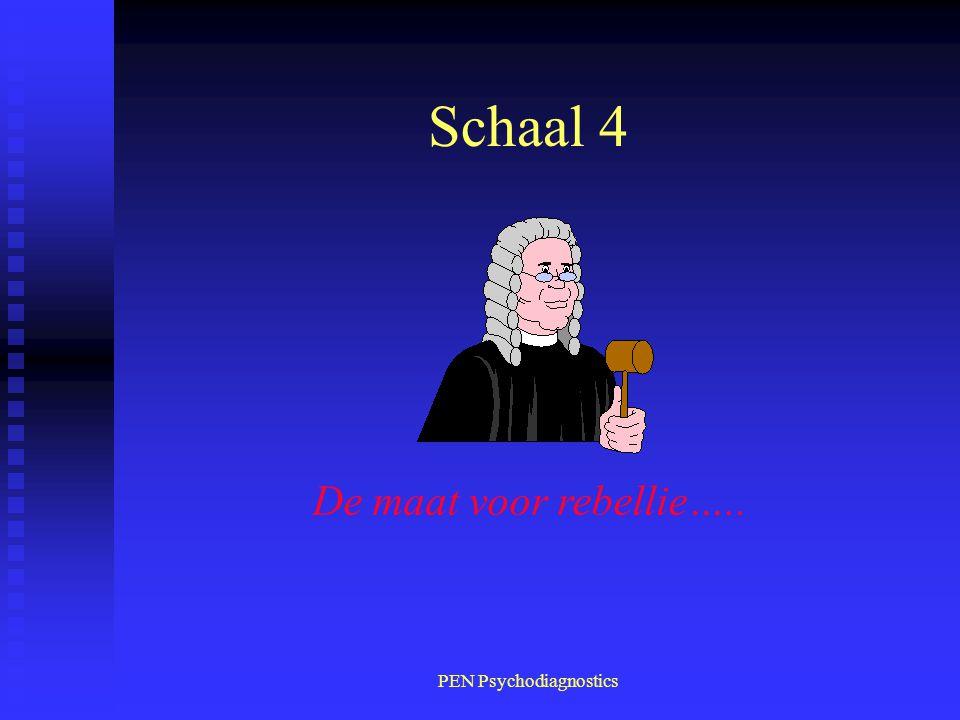 PEN Psychodiagnostics Schaal 4 De maat voor rebellie…..