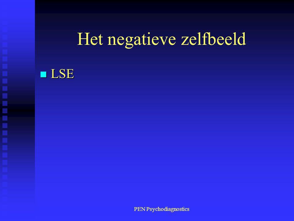 PEN Psychodiagnostics Het negatieve zelfbeeld n LSE