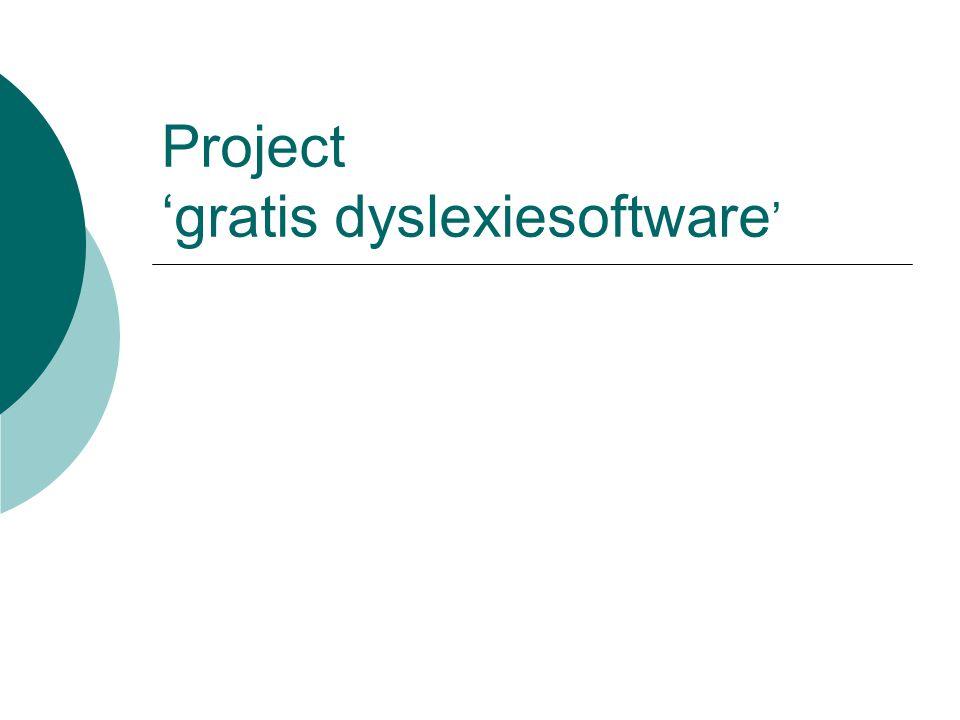 Project 'gratis dyslexiesoftware '