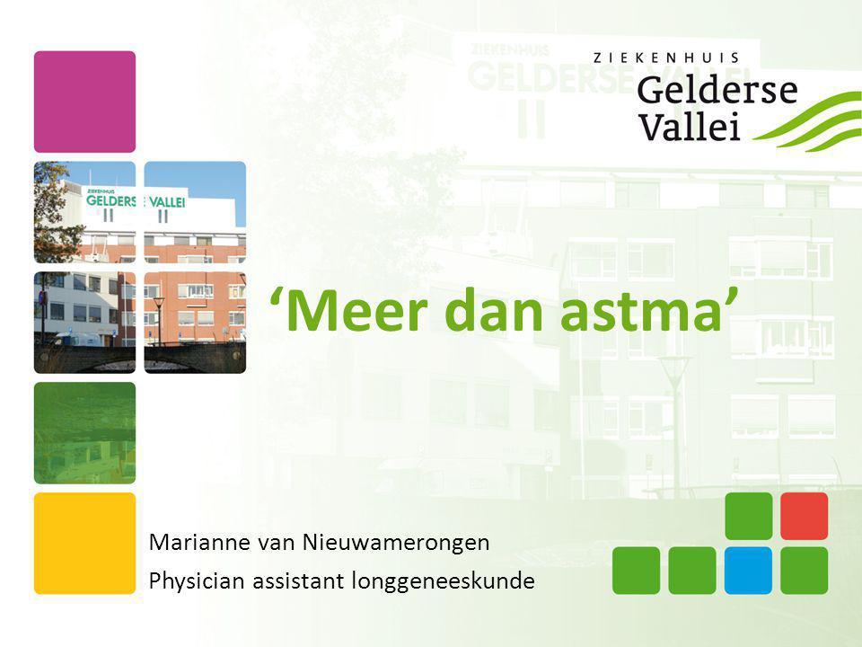 'Meer dan astma' Marianne van Nieuwamerongen Physician assistant longgeneeskunde