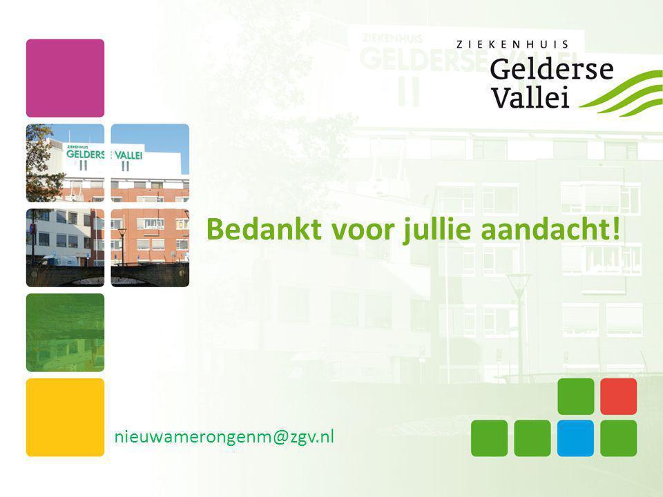Bedankt voor jullie aandacht! nieuwamerongenm@zgv.nl