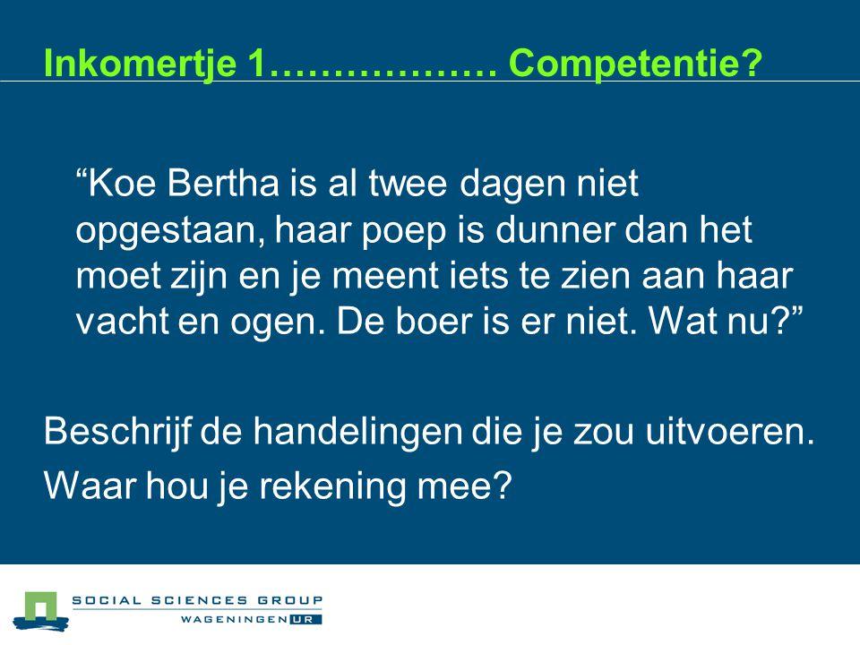 Competentie: samenwerken Beoordelingscriterium: luisteren naar anderen 1.