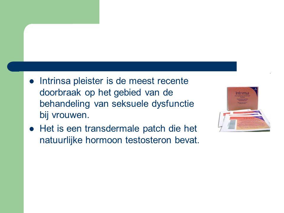  Intrinsa pleister is de meest recente doorbraak op het gebied van de behandeling van seksuele dysfunctie bij vrouwen.