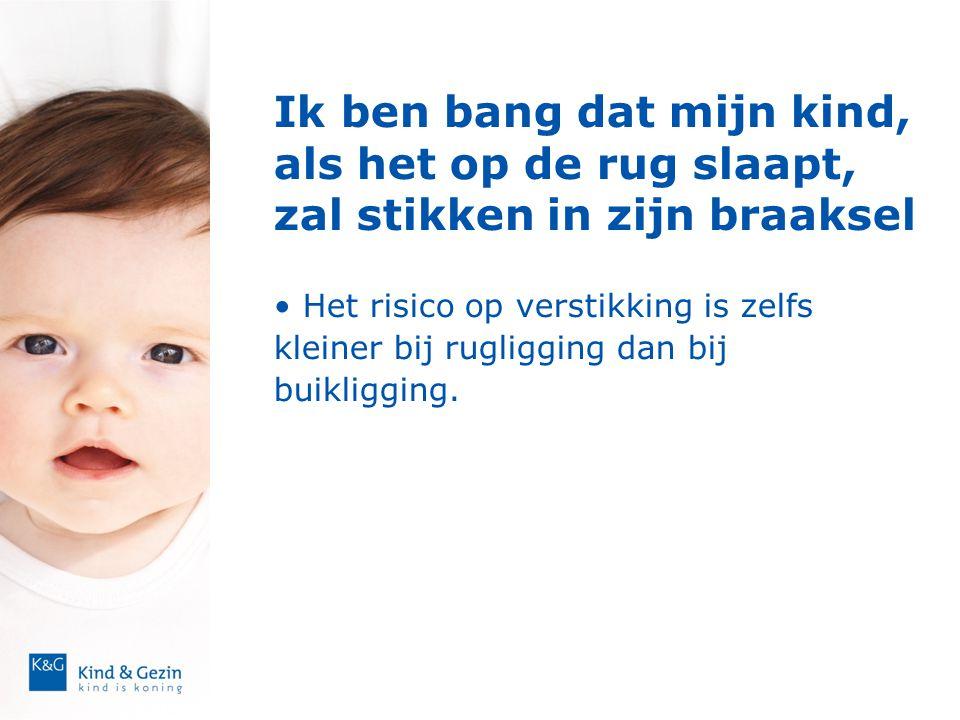 Ik ben bang dat mijn kind, als het op de rug slaapt, zal stikken in zijn braaksel • Het risico op verstikking is zelfs kleiner bij rugligging dan bij