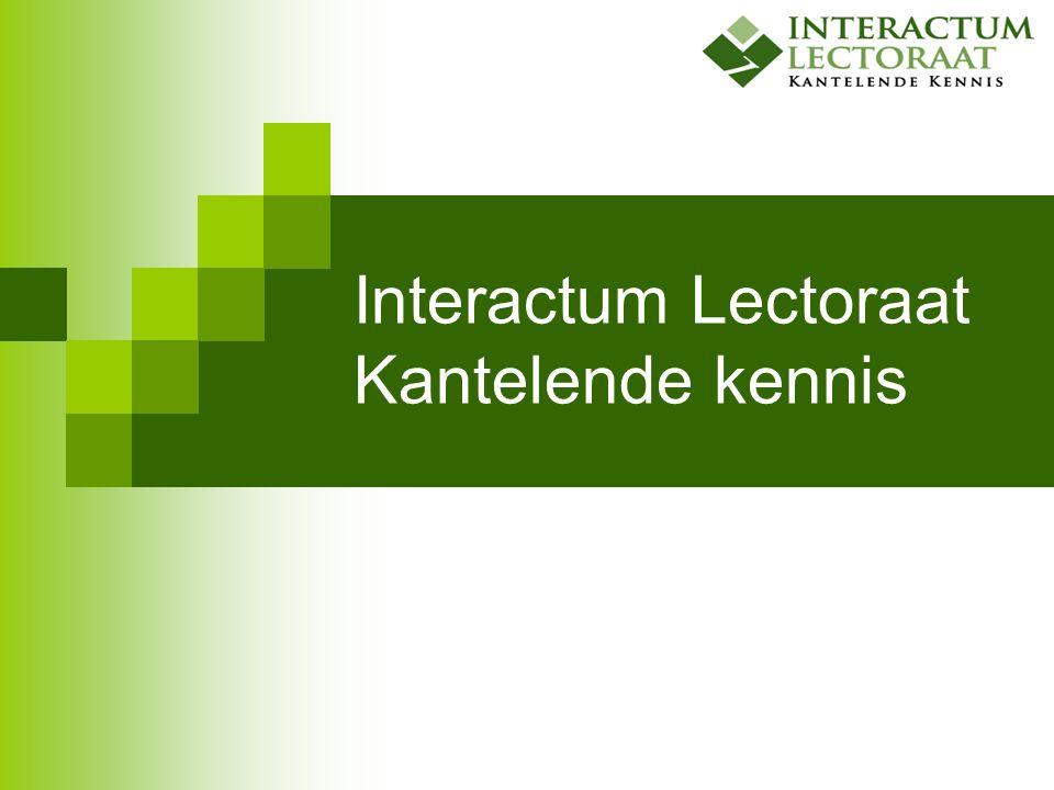 Interactum Lectoraat Kantelende kennis