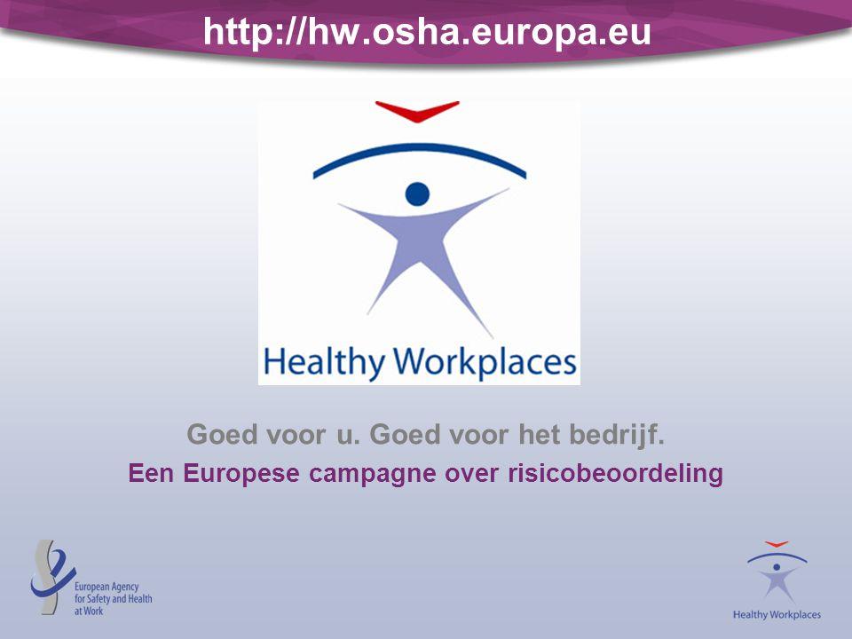 http://hw.osha.europa.eu Goed voor u. Goed voor het bedrijf. Een Europese campagne over risicobeoordeling
