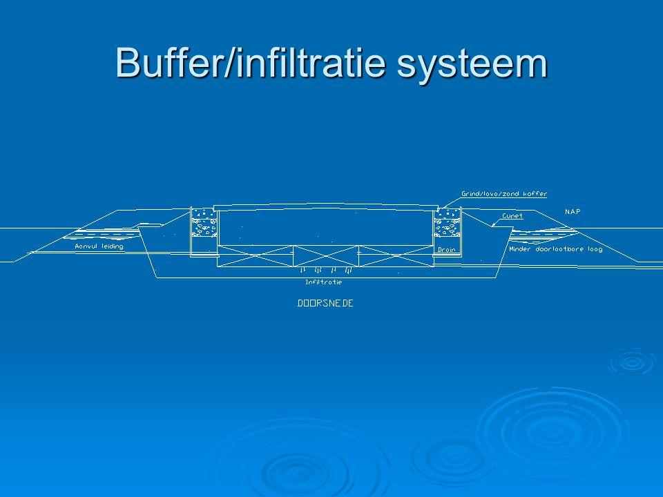 Buffer/infiltratie systeem