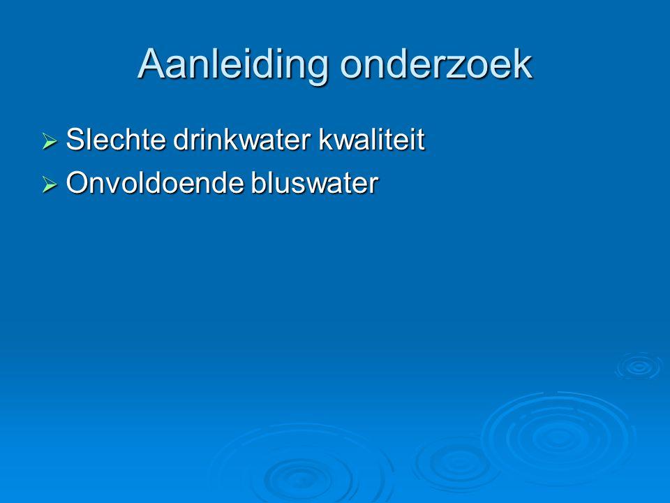 Figuur 1,kranten koppen over problemen bluswatervoorziening, Bron: Aqua +