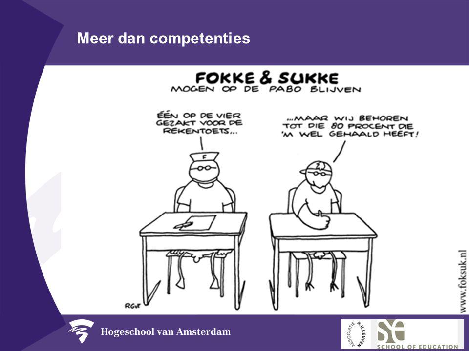 Meer dan competenties •Kennisbasis •Kennisbanken •Kennistoetsen