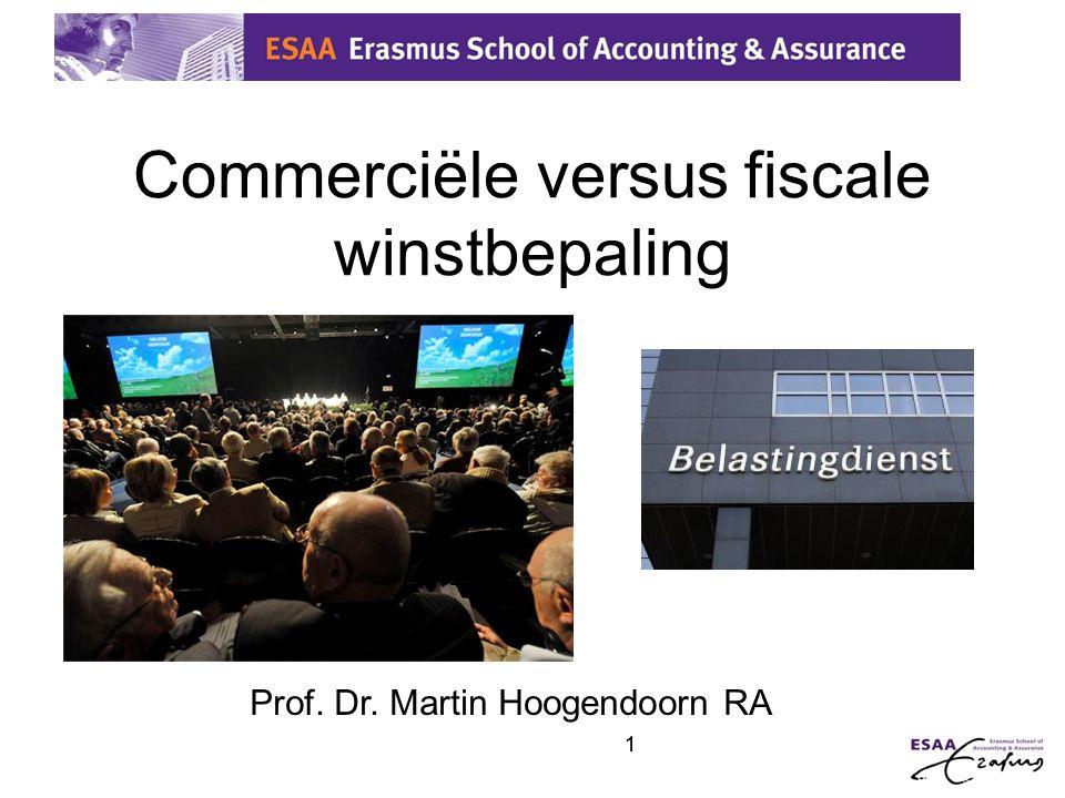 2 Grondslag voor winstbepaling Commerciële winstbepaling Fiscale winstbepaling Getrouw beeld: - volgens maatschappelijk aanvaardbare normen (RJ-Richtlijnen) - In overeenstemming met IFRS Goed koopmansgebruik (hetgeen door de bedrijfseconomie wordt voorgeschreven, tenzij de belastingwet anders bepaalt)