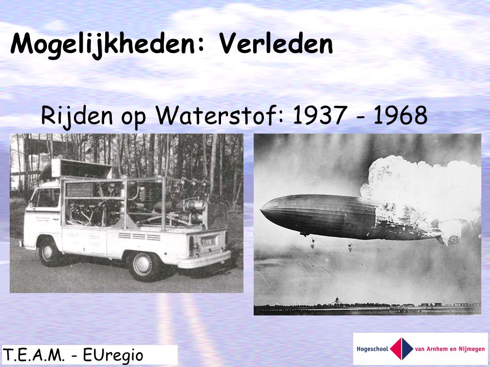T.E.A.M. - EUregio Rijden op Waterstof: 1937 - 1968 Mogelijkheden: Verleden