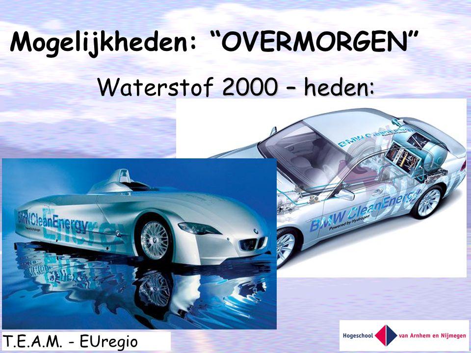 """T.E.A.M. - EUregio 2000 – heden: Waterstof 2000 – heden: Mogelijkheden: """"OVERMORGEN"""""""