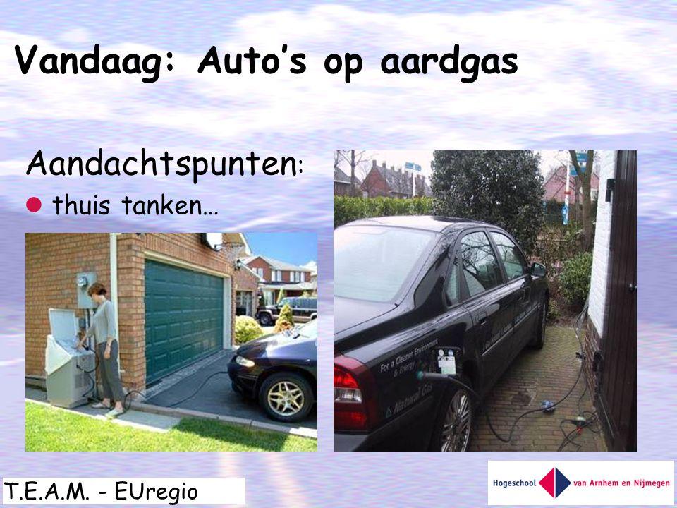 T.E.A.M. - EUregio Aandachtspunten :  thuis tanken… Vandaag: Auto's op aardgas