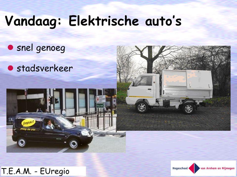 T.E.A.M. - EUregio  snel genoeg  stadsverkeer Vandaag: Elektrische auto's