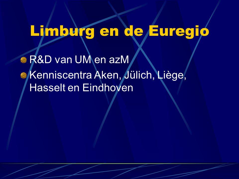 Limburg en de Euregio R&D van UM en azM Kenniscentra Aken, Jülich, Liège, Hasselt en Eindhoven