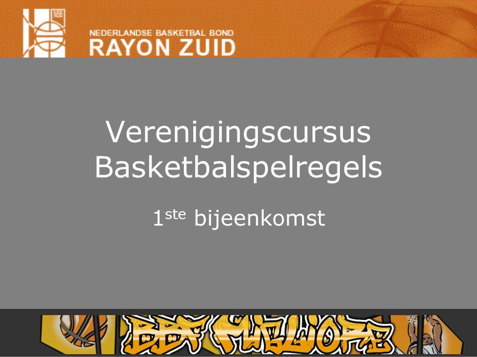 Verenigingscursus Basketbalspelregels 1 ste bijeenkomst