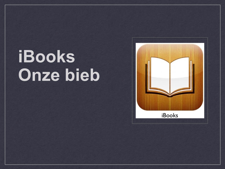 iBooks Onze bieb