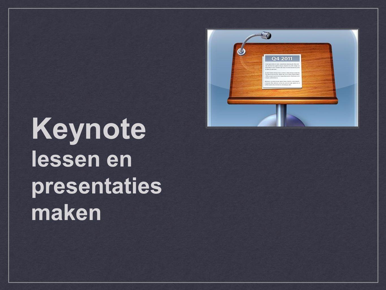 lessen en presentaties maken Keynote