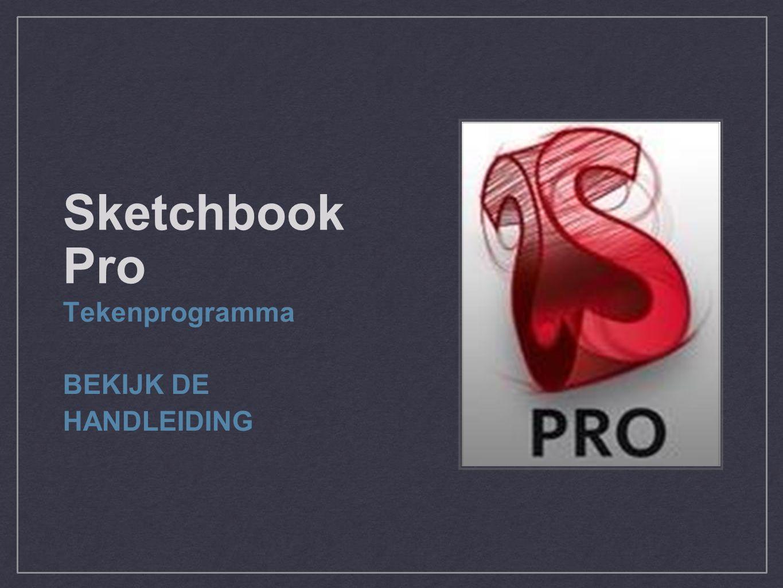 Sketchbook Pro Tekenprogramma BEKIJK DE HANDLEIDING