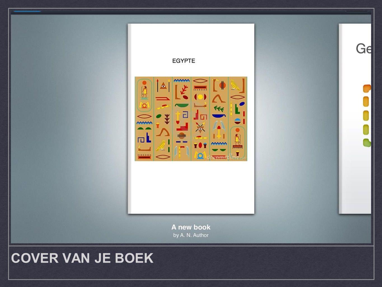 COVER VAN JE BOEK
