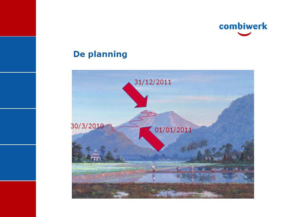 De planning 30/3/2010 01/01/2011 31/12/2011