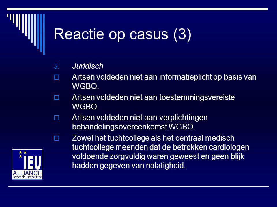 Conclusies (1) 1.Inhoudelijk  Artsen hadden de laboratoriumuitslagen moeten controleren.