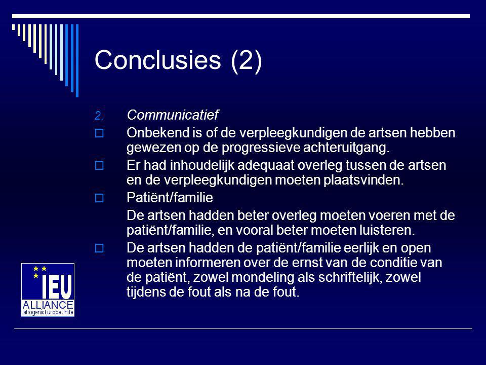 Conclusies (2) 2.