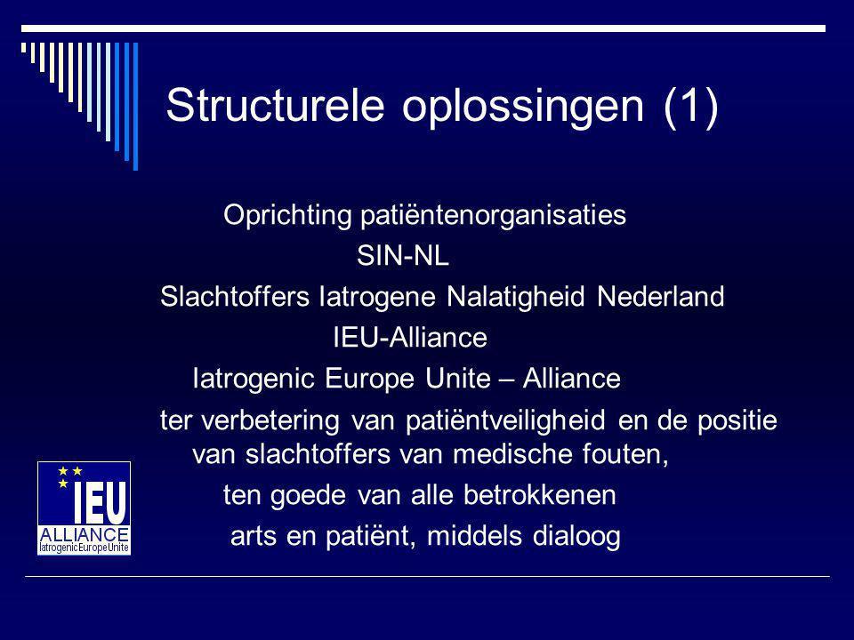 Structurele oplossingen (2)  Inspiratie Harvard rapport, maart 2006, USA.