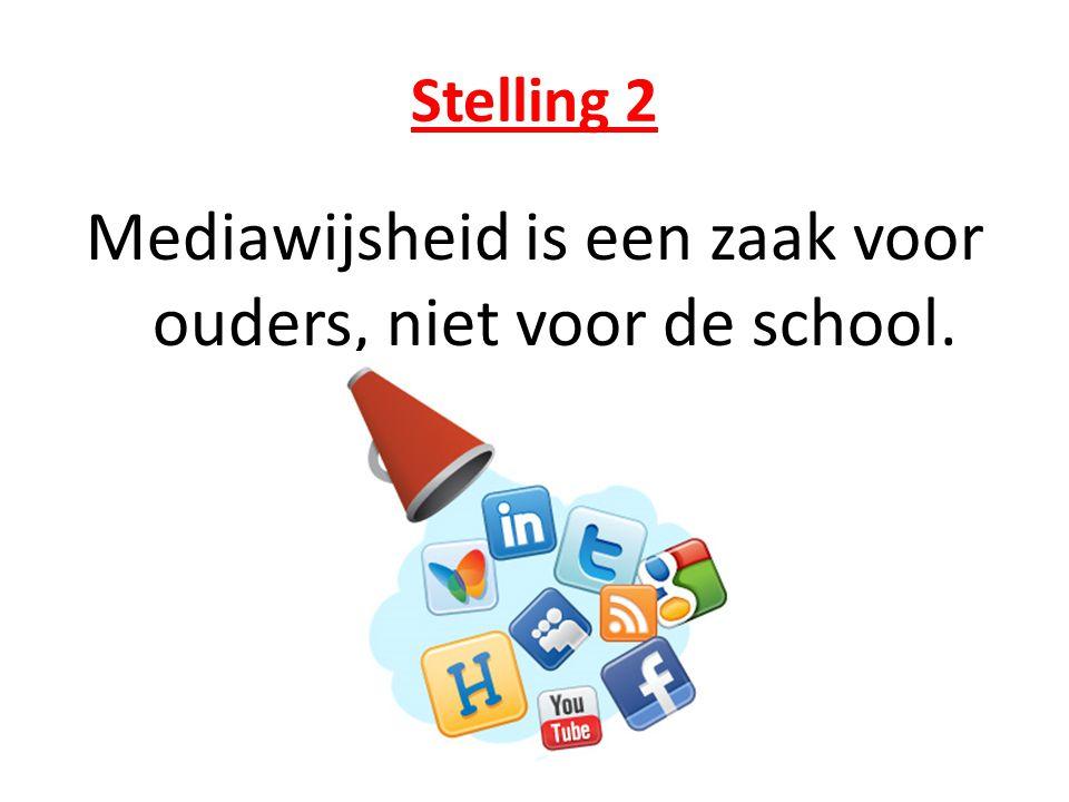Stelling 2 Mediawijsheid is een zaak voor ouders, niet voor de school.