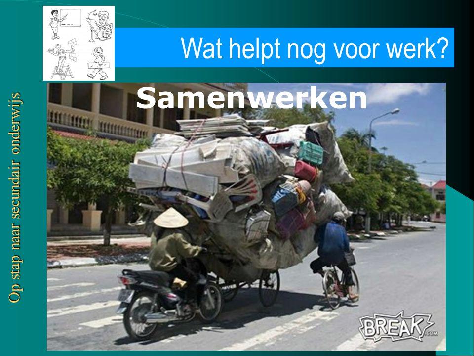 Vrij CLB Waas en Dender vzw Wat helpt nog voor werk? Op stap naar secundair onderwijs Samenwerken