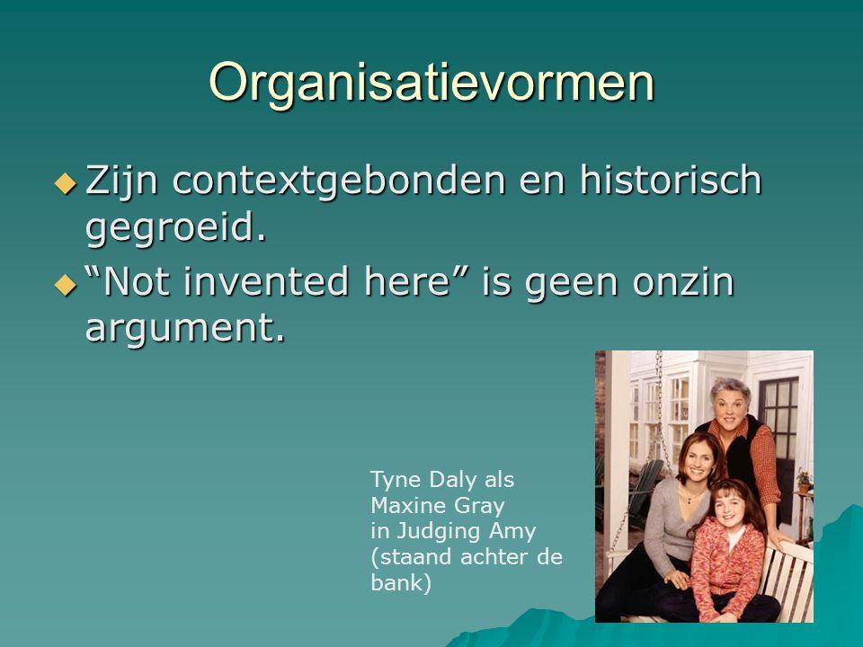 """Organisatievormen  Zijn contextgebonden en historisch gegroeid.  """"Not invented here"""" is geen onzin argument. Tyne Daly als Maxine Gray in Judging Am"""