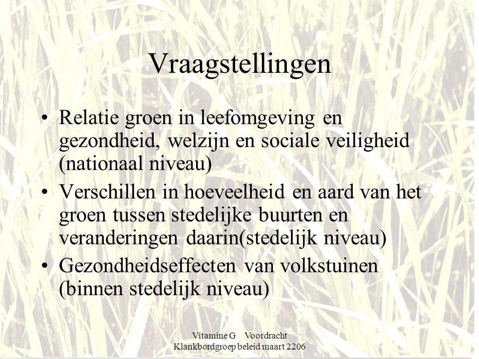 Vitamine G Voordracht Klankbordgroep beleid maart 2206