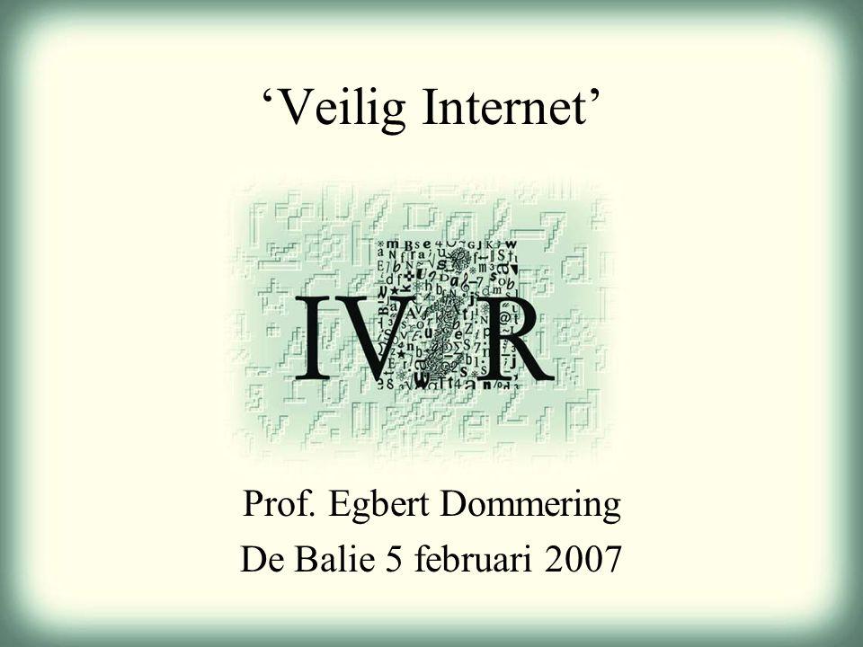 'Veilig Internet' Prof. Egbert Dommering De Balie 5 februari 2007