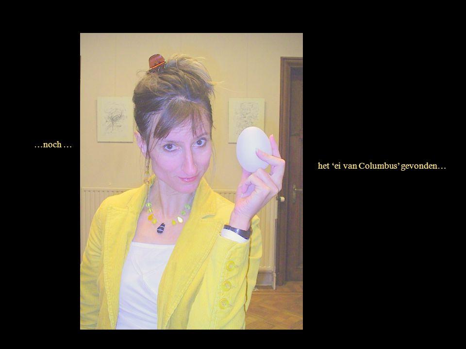 …noch … het 'ei van Columbus' gevonden…