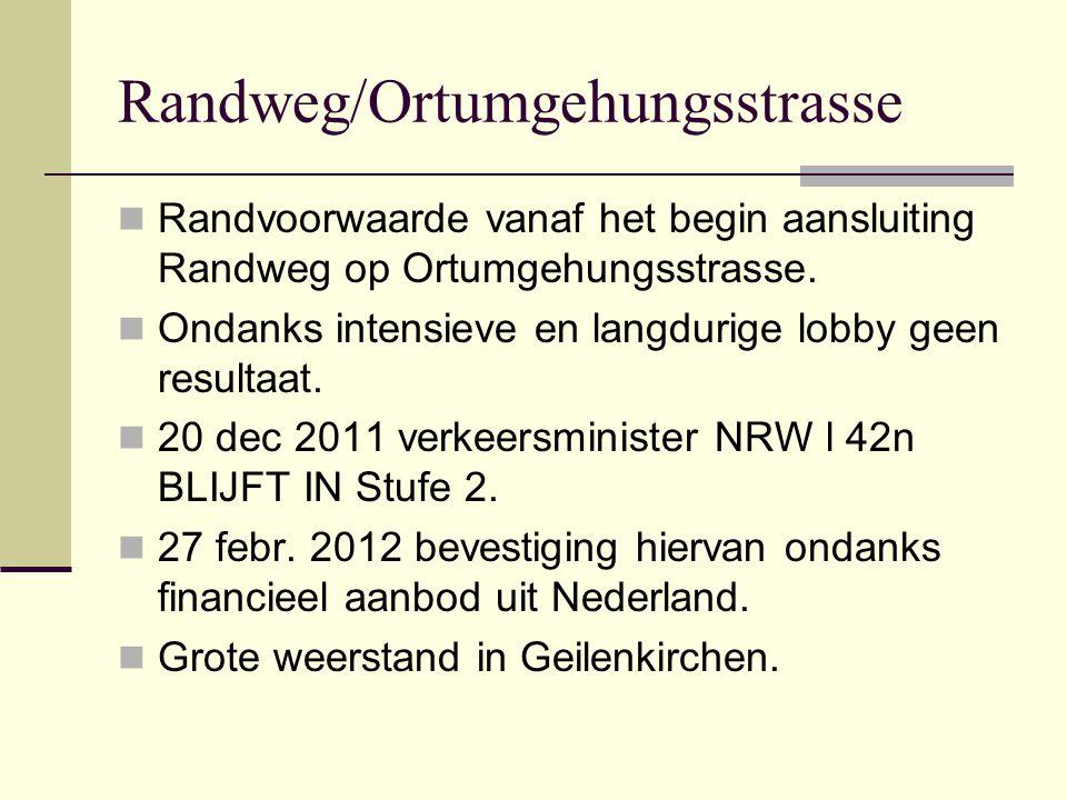 Randweg/Ortumgehungsstrasse  Randvoorwaarde vanaf het begin aansluiting Randweg op Ortumgehungsstrasse.