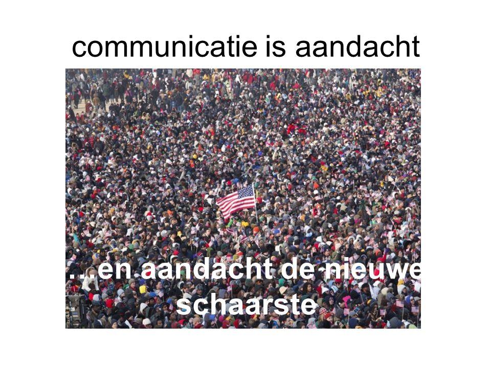 …en aandacht de nieuwe schaarste communicatie is aandacht
