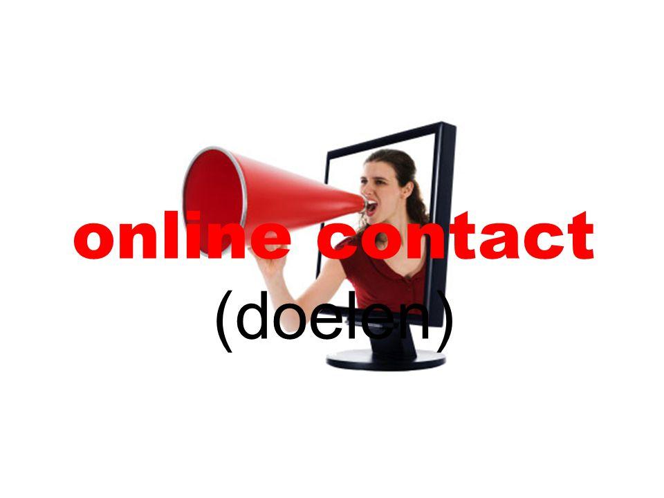 online contact (doelen)