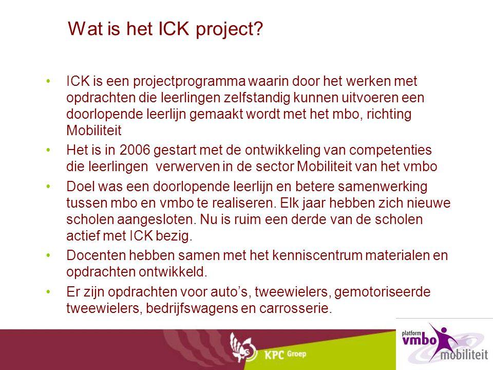 Wat is het ICK project? •ICK is een projectprogramma waarin door het werken met opdrachten die leerlingen zelfstandig kunnen uitvoeren een doorlopende