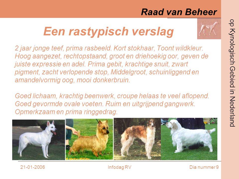 Raad van Beheer op Kynologisch Gebied in Nederland 21-01-2006Infodag RVDia nummer 10 EXAMENS •BEOORDELING •VOLLEDIGE EXAMENS •compacte EXAMENS •SEMINARS