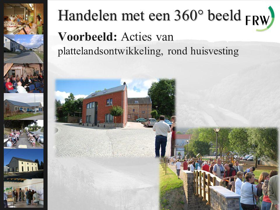 Handelen met een 360° beeld Voorbeeld: Acties van plattelandsontwikkeling, rond huisvesting