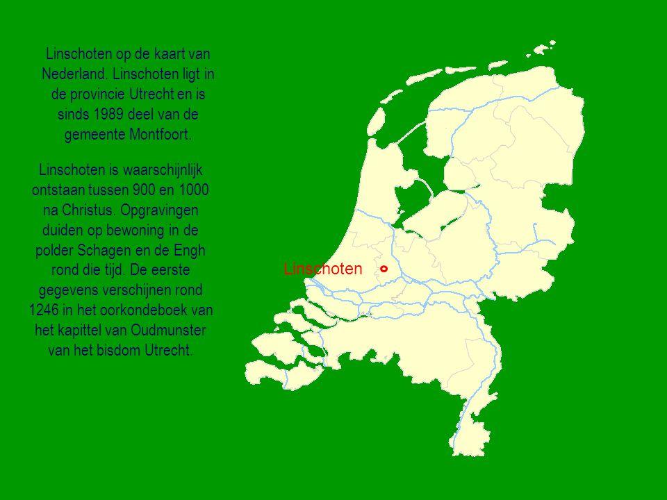 De eerste kaart waarop Linschoten te zien is, is een kaart van het waterbeheer rond de grote rivieren daterend uit het jaar 1498.