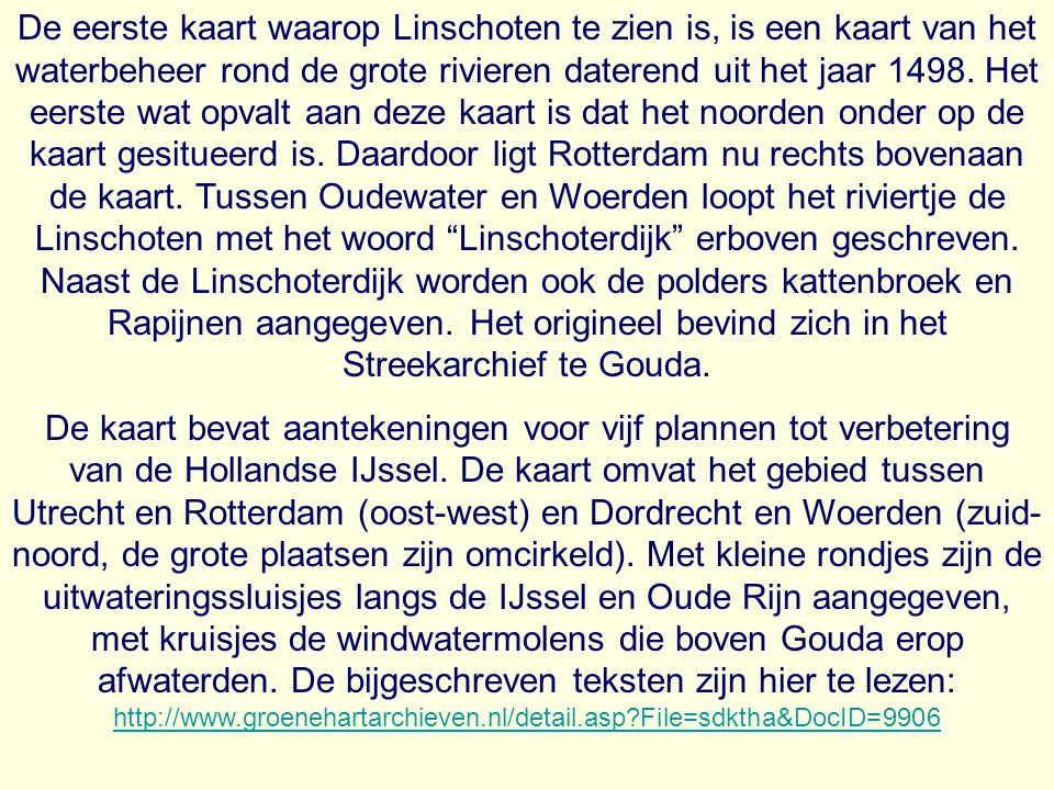 Plattegrond van de gemeente Linschoten uit 1866.