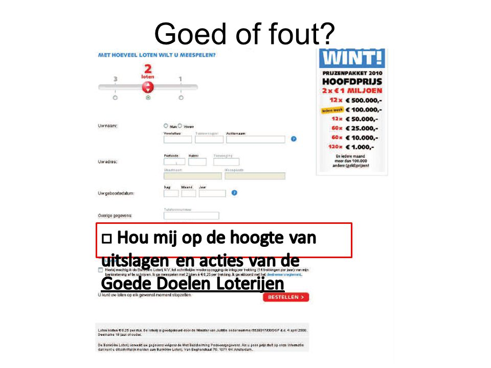 Goed of fout?