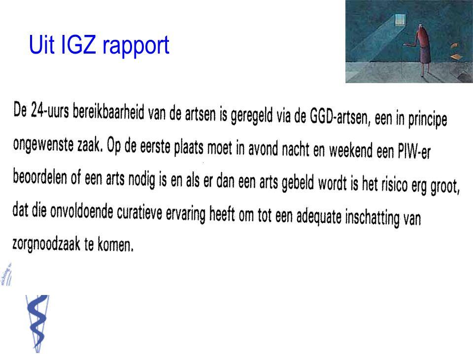 Uit IGZ rapport •