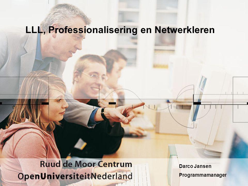 Professionalisering… •Professionaliseren gebeurt vooral –op de werkplek; –bij stukjes en beetjes t.b.v.