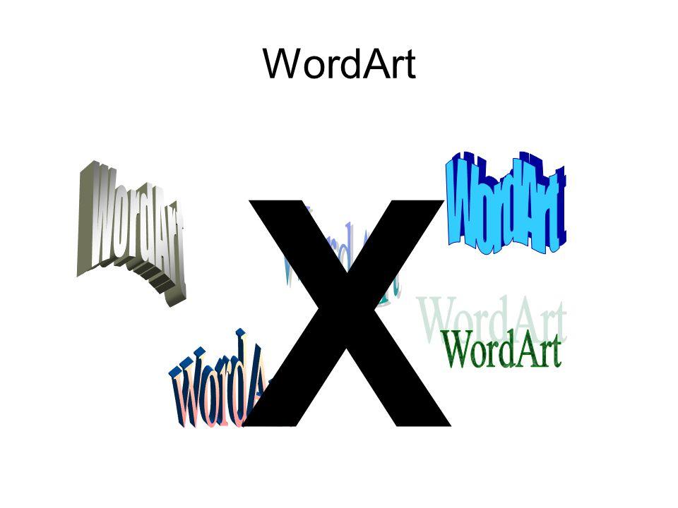 WordArt X