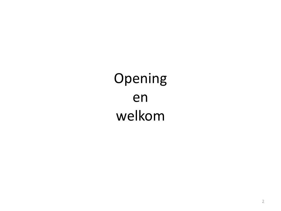 Opening en welkom 2