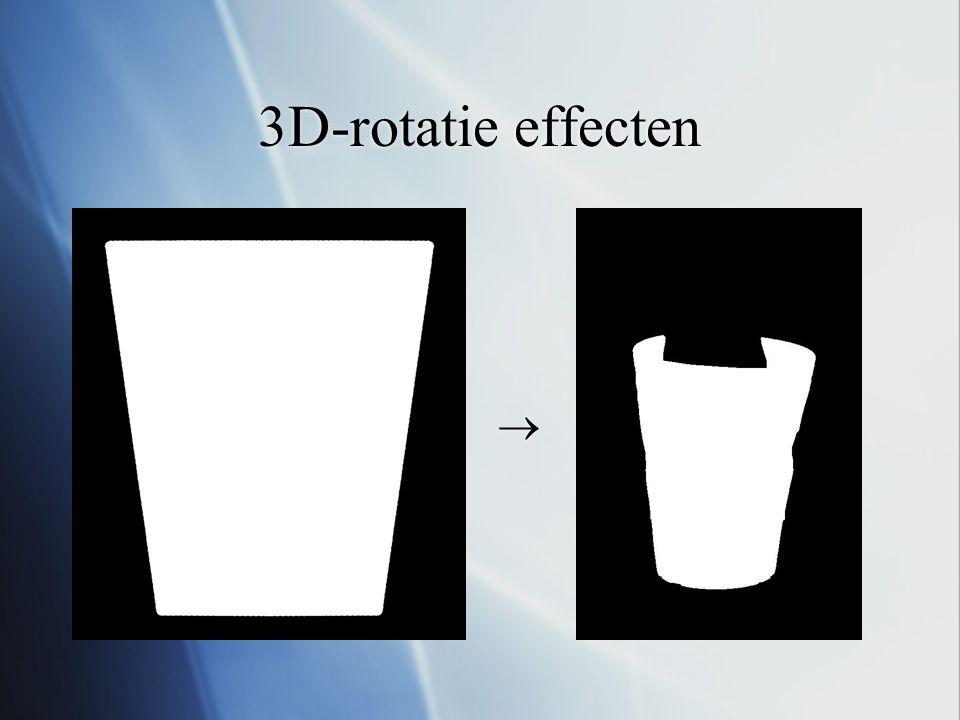 3D-rotatie effecten  