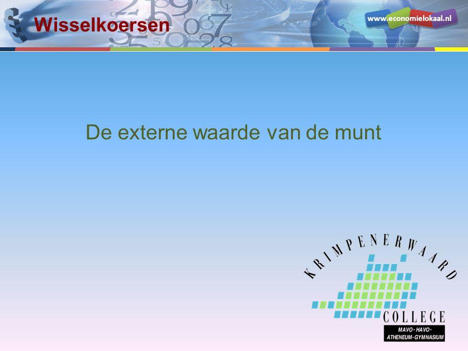 www.economielokaal.nl De externe waarde van de munt Wisselkoersen