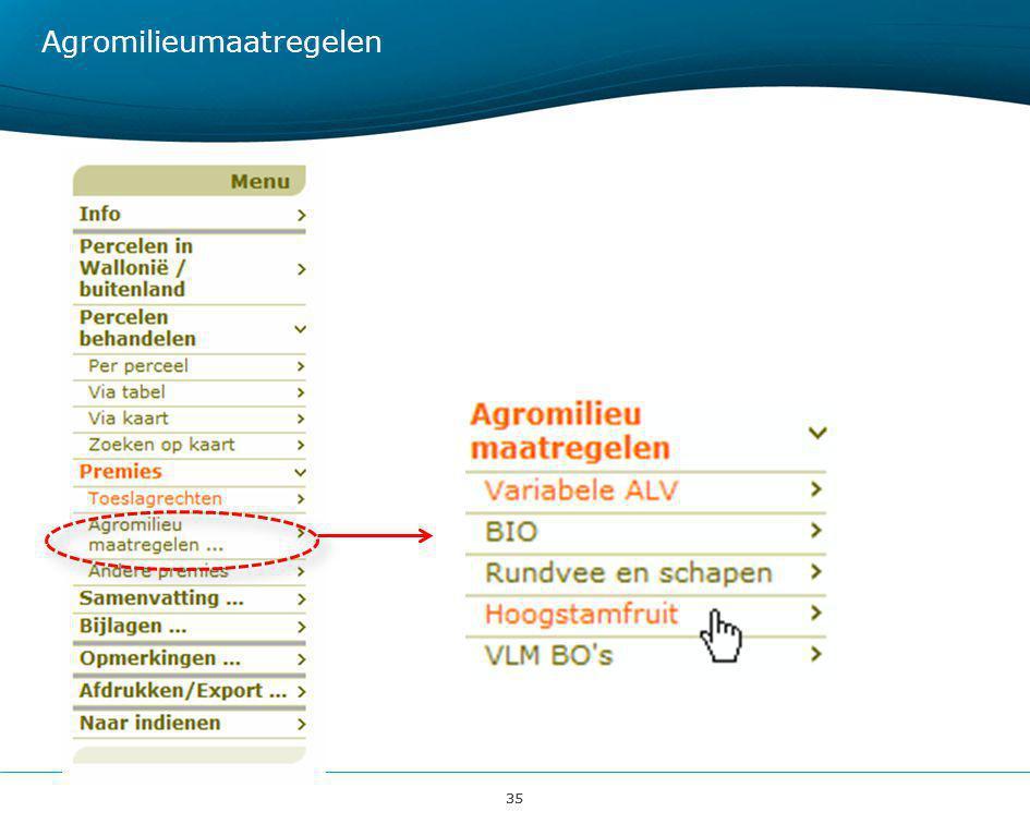 35 Agromilieumaatregelen